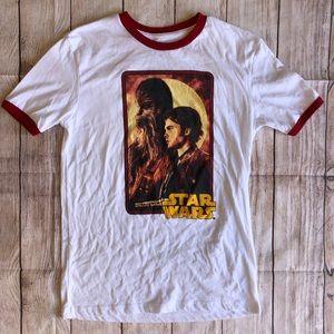 Star Wars Ringer T-shirt Chewbacca Small